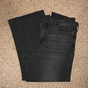 Gap dark gray high rise wide leg Jeans